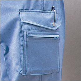 自重堂 832 低発塵製品制電ツータックカーゴパンツ(JIS T8118適合) ポケット
