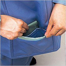 自重堂 833 低発塵製品制電スモック(JIS T8118適合) 二重ポケット