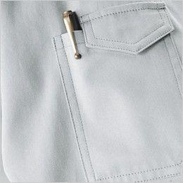 自重堂 84214 [春夏用]ストレッチ 半袖シャツ(綿100%) ペン差し