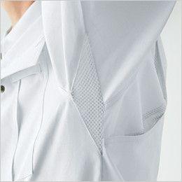 自重堂 86104 [春夏用]ストレッチ 長袖シャツ メッシュ素材