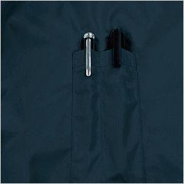 KU91410 [春夏用]空調服 フード付綿薄手ブルゾン ペン差しポケット