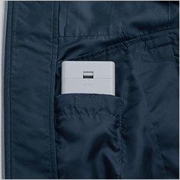 KU91410 [春夏用]空調服 フード付綿薄手ブルゾン 電池ボックス専用ポケット