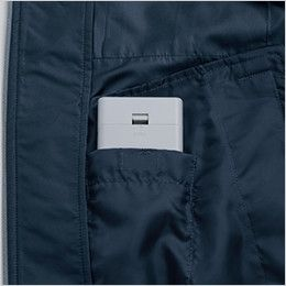 KU91410SET 空調服 フード付綿薄手ブルゾン 電池ボックス専用ポケット