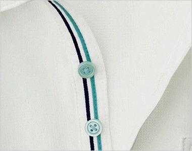 自重堂 WH90718 WHISEL ドライ半袖ポロシャツ(男女兼用) おしゃれなトリコロールテープを施したデザイン