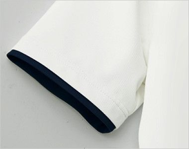 自重堂 WH90718 WHISEL ドライ半袖ポロシャツ(男女兼用) レイヤード仕様の袖口