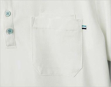 自重堂 WH90718 WHISEL ドライ半袖ポロシャツ(男女兼用) PHSが収納できる二重ポケット