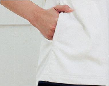 自重堂 WH90718 WHISEL ドライ半袖ポロシャツ(男女兼用)  ファスナーポケット付き