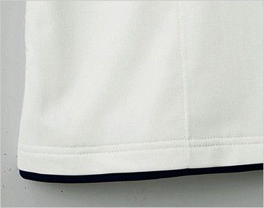 自重堂 WH90718 WHISEL ドライ半袖ポロシャツ(男女兼用) レイヤード仕様の裾