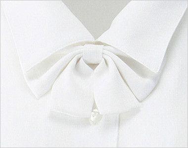 en joie(アンジョア) 01130 [通年]シンプルデザインで定番3つの襟を楽しめる長袖ブラウス 無地 無料でついてくるリボンは取外できます!