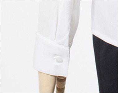 en joie(アンジョア) 01130 [通年]シンプルデザインで定番3つの襟を楽しめる長袖ブラウス 無地 ボタン