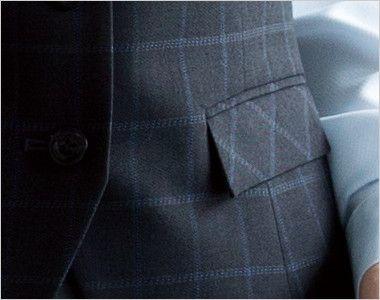en joie(アンジョア) 11040 [通年]スタイリッシュでシックなチェック柄ベスト ポケット