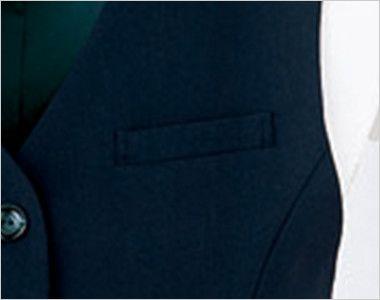 en joie(アンジョア) 11070 [通年]リーズナブルな価格が魅力!エコでおしゃれなベスト 無地 ポケット