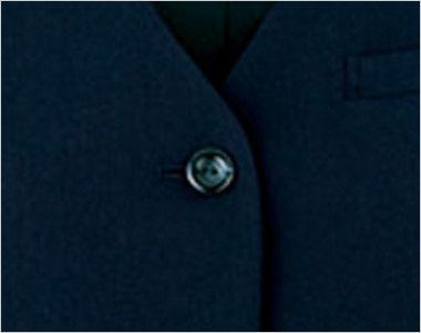 en joie(アンジョア) 11070 [通年]リーズナブルな価格が魅力!エコでおしゃれなベスト 無地 シンプルな黒ボタン