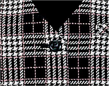 en joie(アンジョア) 11260 [通年]大人可愛くソフトな着心地のウール混チェック柄ベスト シンプルな黒ボタン
