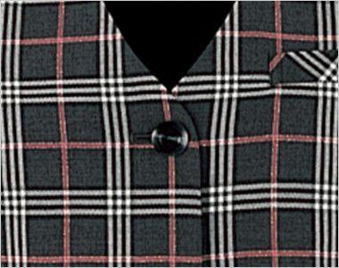 en joie(アンジョア) 11280 [通年]ラメ×ピンクの王道愛されチェック柄ベスト シンプルな黒ボタン