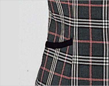 en joie(アンジョア) 11280 [通年]ラメ×ピンクの王道愛されチェック柄ベスト ポケット