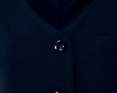 en joie(アンジョア) 11410 [通年]シルエットできれいに魅せるベスト 無地 どんなシーンにもあわせやすい