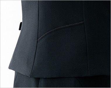 en joie(アンジョア) 11410 [通年]シルエットできれいに魅せるベスト 無地 コードパイピングの両脇ポケット