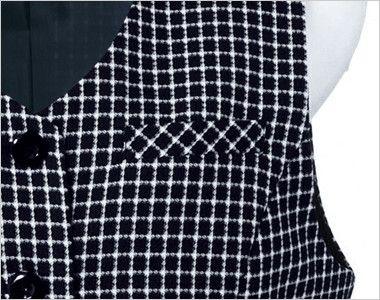 en joie(アンジョア) 11420 [通年]ミニチェック柄で大人可愛いベスト ポケット付き