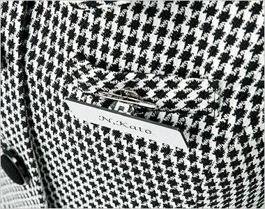 en joie(アンジョア) 11460 [通年]華やかで印象的なチドリチェック柄ベスト 名札ポケット 胸ポケットにペンをさしても名札が邪魔にならない実用性の高さが好評です。