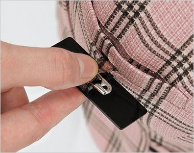 en joie(アンジョア) 11480 [通年]信頼感・安心感を演出!病院で人気のチェック柄ベスト ペンをさしても邪魔にならない名詞ポケット付き