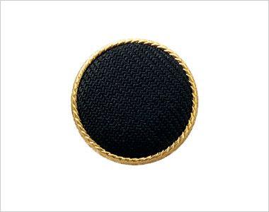 en joie(アンジョア) 11520 [通年]かっちり&かわいいベージュ×黒の気品漂うベスト 無地 黒ベースにまわりをゴールドであしらったボタン