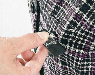 en joie(アンジョア) 11530 [秋冬用]TV・病院ドラマで大人気!元気で明るいチェック柄ベスト ペンをさしても名札が邪魔にならない実用性の高い名札ポケット付き