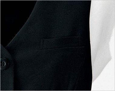 en joie(アンジョア) 11550 [秋冬用]高発色×なめらかな風合いのウールタッチな上質ベスト 無地 ポケット