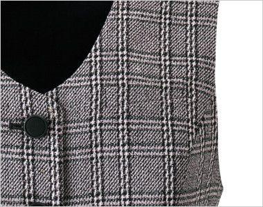 en joie(アンジョア) 11560 [通年]クラシカルな上品さ×ウール混のチェック柄ベスト ボールペンなどの収納に最適なポケット付き
