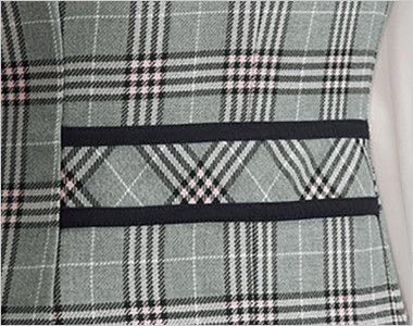 en joie(アンジョア) 11605 [通年]優しさと可愛らしさのあるダブルのチェック柄ベスト 黒の配色を効かせたバックスタイルでスッキリとまとめた背ベルト