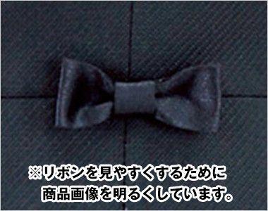 en joie(アンジョア) 11650 [通年]黒&ゴールドのあしらいがハイクラスなペプラムのベスト 無地 腰の部分に小さなリボンでさりげなくかわいさを演出します