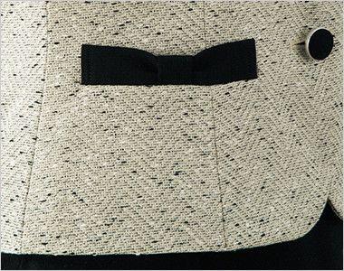 en joie(アンジョア) 11680 [通年]ほんのり甘いミックスツイードのベスト ほんのりキュートさをプラスするリボンのようなポケット