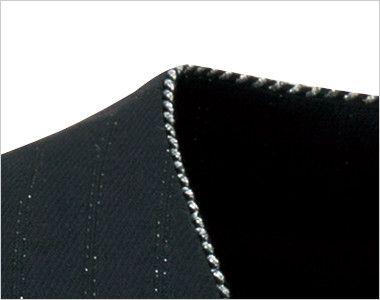 en joie(アンジョア) 11700 [通年]ウエストのペプラムでスタイルアップのストライプ柄ベスト グレード感を上げるシルバーラメの襟元