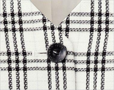 en joie(アンジョア) 16110 [春夏用]愛される好印象なトラッドなチェック柄ベスト シンプルな黒ボタン