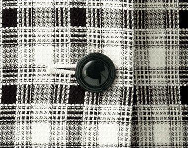 en joie(アンジョア) 16320 [春夏用]白ベースの爽やかチェック柄のベスト シンプルな黒ボタン