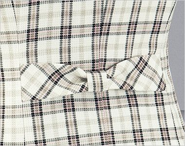 en joie(アンジョア) 16360 [春夏用]清潔感・信頼感のある医療事務に人気のチェック柄ベスト 後ろ姿もかわいいリボン風の背ベルト