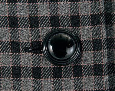 en joie(アンジョア) 21000 [通年]スタンドカラーのチェック柄長袖オーバーブラウス チェック シンプルな黒ボタン