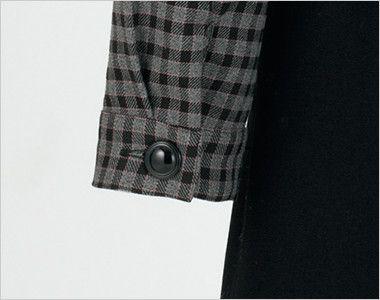 en joie(アンジョア) 21005 [通年]可愛いチェック柄の長袖オーバーブラウス チェック(リボン付) 袖口はボタンで閉められます