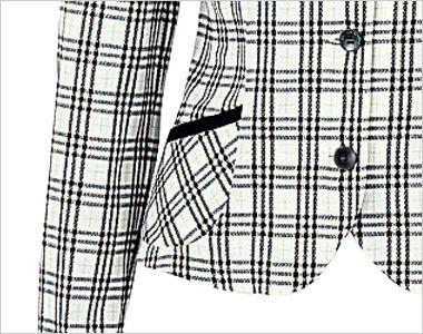 en joie(アンジョア) 26115 [春夏用]エアコン対策にぴったりなチェック柄の長袖オーバーブラウス ポケット