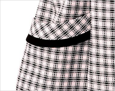 en joie(アンジョア) 26190 [春夏用]ハリ感・通気性が魅力の可憐!フラワーチェック オーバーブラウス 小物収納に便利なポケット