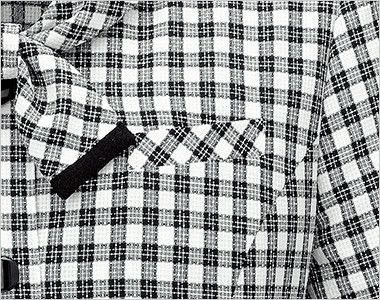 en joie(アンジョア) 26230 [春夏用]可愛さと軽快さを兼ね備えたチェック柄の人気オーバーブラウス ポケット