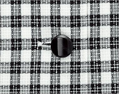 en joie(アンジョア) 26230 [春夏用]可愛さと軽快さを兼ね備えたチェック柄の人気オーバーブラウス 光沢のある黒ボタン