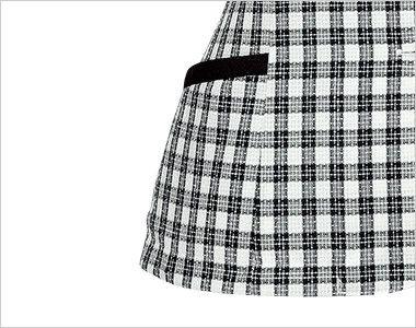 en joie(アンジョア) 26230 [春夏用]可愛さと軽快さを兼ね備えたチェック柄の人気オーバーブラウス 小物収納に便利なポケット