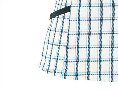 en joie(アンジョア) 26240 [春夏用]アシンメトリーな大きめの丸み襟のチェック柄オーバーブラウス[抗菌・防臭] 小物収納に便利なポケット