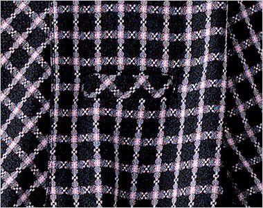 en joie(アンジョア) 26250 [春夏用]清楚な雰囲気を演出する小花チェック柄のオーバーブラウス ポケット