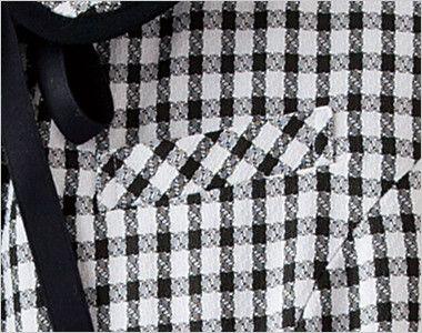 en joie(アンジョア) 26450 [春夏用]ギンガムチェックのオーバーブラウス(リボン付) ポケット