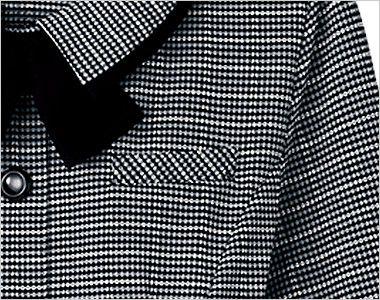 en joie(アンジョア) 26505 [通年]オールシーズン使える!長袖オーバーブラウス(リボン付)[ニット/ストレッチ/吸汗速乾] ポケットにペンをさしても名札が邪魔にならない名札ポケット