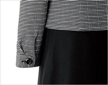 en joie(アンジョア) 26505 [通年]オールシーズン使える!長袖オーバーブラウス(リボン付)[ニット/ストレッチ/吸汗速乾] ボタン付き