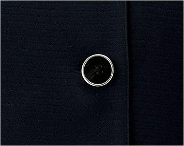 en joie(アンジョア) 26600 [春夏用]フェミニンな印象のリボン襟のオーバーブラウス シルバー縁でモタンテイストなボタン