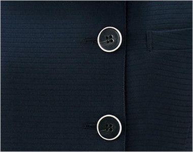 en joie(アンジョア) 26602 [春夏用]長袖オーバーブラウス [シャドーボーダー/ストレッチ/接触冷感] スタイリッシュなシルバー縁ボタン